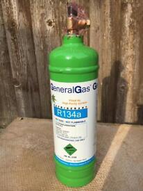 R134a refrigerant 1 litre (900g) gas refillable cylinder