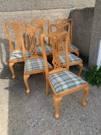 6 Celtic design dining chairs Delivery available