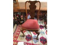Lovely 1930s Queen Anne Style Pear Wood Table and 8 chairs