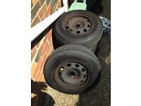 5x100 175/80/r14 steel wheels with tyres vw polo golf