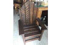 Child's garden throne