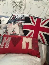 Selection of scatter cushions for boys bedroom