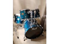 Pearl Prestige Session Select Maple/Mahogony Drum kit