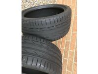 Bridgestone 245 35 18 run flat tyres