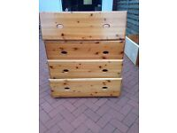 4 Under bed pine storage drawers very good condition £50