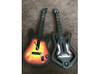 2 Guitar hero guitars