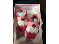 Little cupcake baby shoes 0-6 months