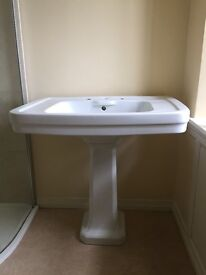 Bathroom Basin with Pedestal - LARGE!