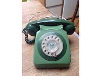 Retro Original Vintage Green Two Tone Old Style Telephone