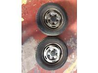 FFord transit tyres/wheels 185/70/15 £50ono