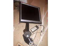 "Asus 15"" computer monitor with desk holder"