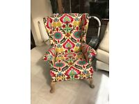 Reupholstered Parker knoll chair stunning
