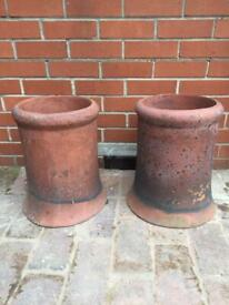 Terracotta chimney pots x 2 £40 each