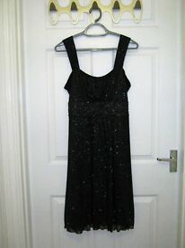 Women's sparkly black occasion dress, petite size 12
