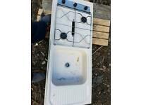 Caravan hod and grill sink