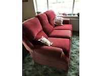 Red, very comfy sofa - free to anyone who is willing to collect