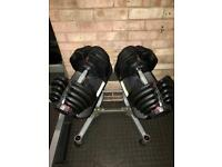 Bowflex 1090 dumbbells 4kg - 41kg with stand