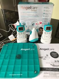 AngelCare Deluxe Movement & Sound Monitor with 2 Parent Unit (Model AC401)