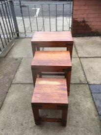 Lovely set of nest of tables in good condition