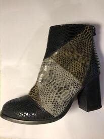 Faux snakeskin boots size 5