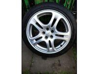 Subaru impreza/forester alloys with winter tyres - pcd 5x100