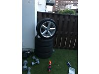 Original Audi sline alloys with fresh tyres 18inch