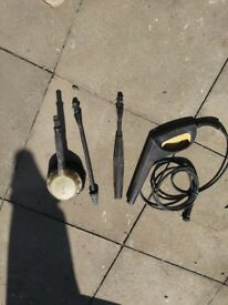 Karcher kit..inc hose and gun,dirtblaster lance, vario lance and car washing brush
