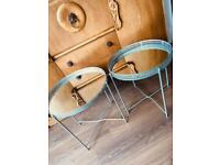 X2 matching mirrored side tables