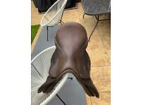 17in brown Saddle Jeffries Falcon event type