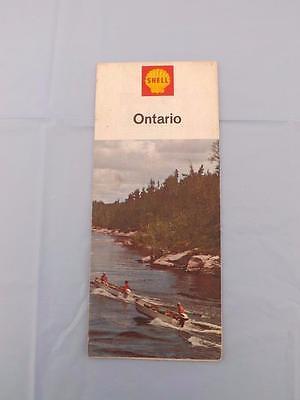 Fa ONTARIO CANADA ROAD MAP 1965 TRAVEL TOURIST BOATS RIVER ROCKS COVER