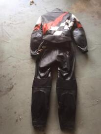 Ladies two piece motor cycle leathers
