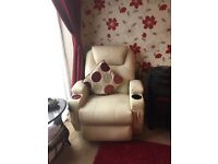 Recliner chair with electric heat and massage