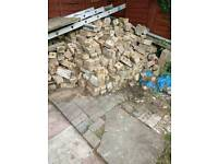 Used bricks to give away for free to collect from Loughborough