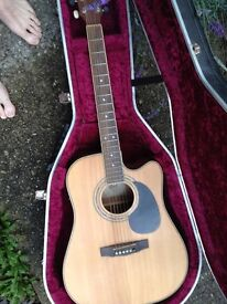 Cort Acoustic Guitar with Hiscox flight-case