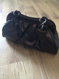 Lancome handbag with heart shaped keyring - excellent condition from USA