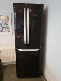 Great Fridge Freezer HOTPOINT DAY 1 FFU3D.1 K - BLACK- 1 year old
