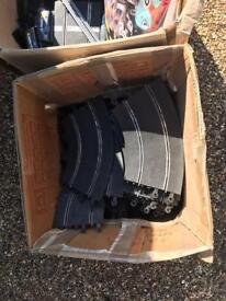 Large box of Vintage Scalextric