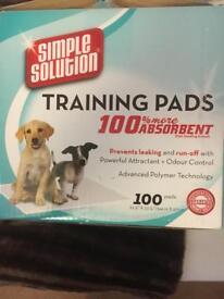 Dog training pads 40 plus left in box