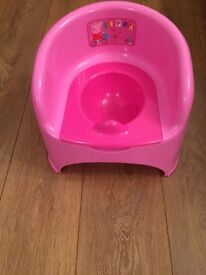 Peppa pig chair potty by Mothercare