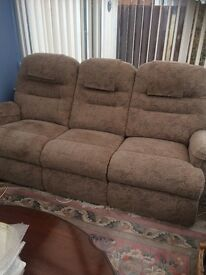 3 seater sofa and matching recliner armchair