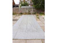 Caravan Awning Breathable Flooring Carpet Grey - 2.5 m x 6.4 m (used) VGC