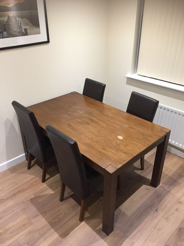 Homebase Dining Table And 4 Chairs