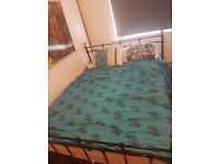 King Size Metal Frame Bed with Orthopaedic Matress