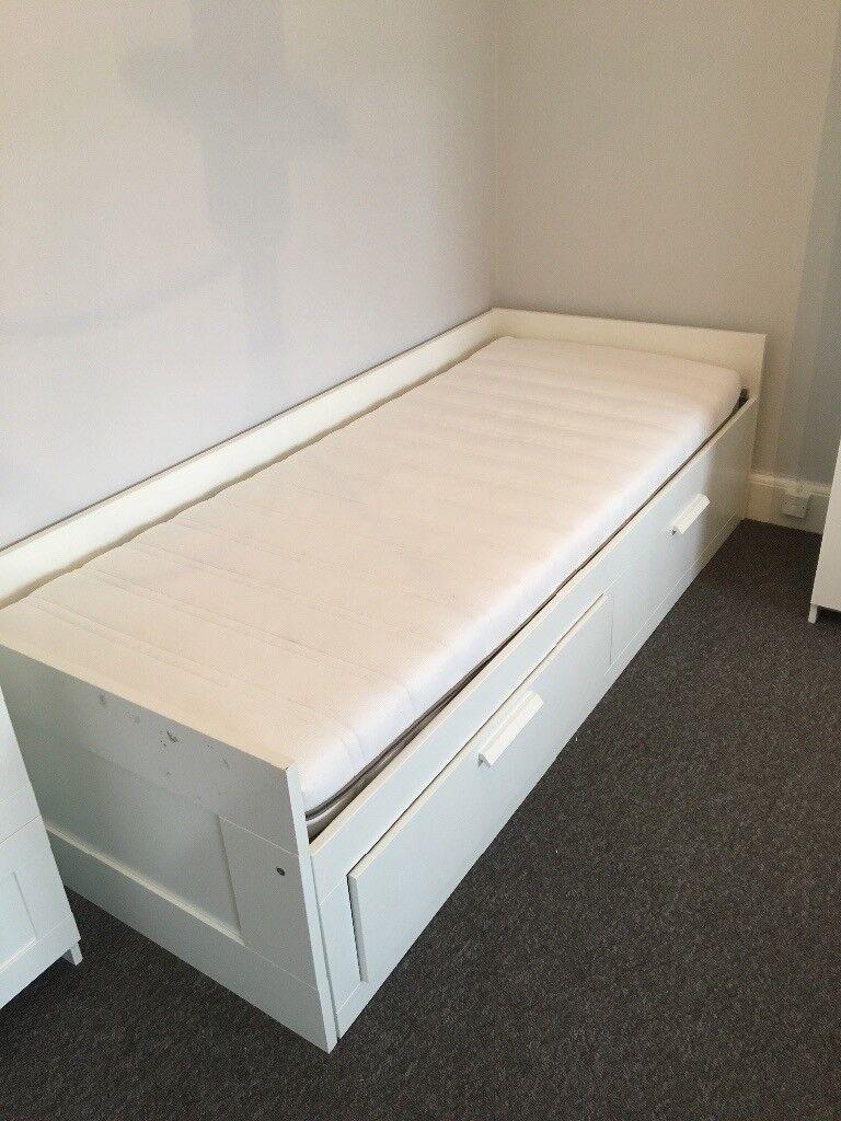 White Ikea Brimnes bed Frame | in Eltham, London | Gumtree
