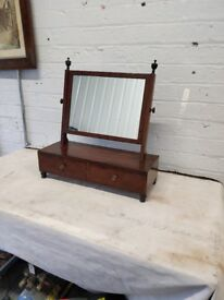 Victorian Dressing Table Miror with Two Drawers