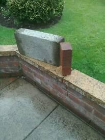 Small amount of bricks and breeze blocks