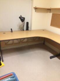 L-shaped desk