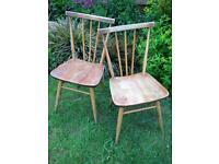 Pair Vintage Ercol chairs