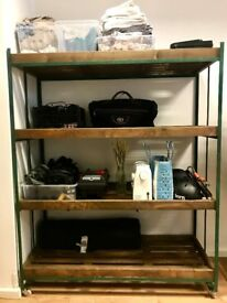 Wooden industrial Shelving unit