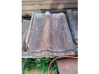 Double roman reclaimed roof tiles